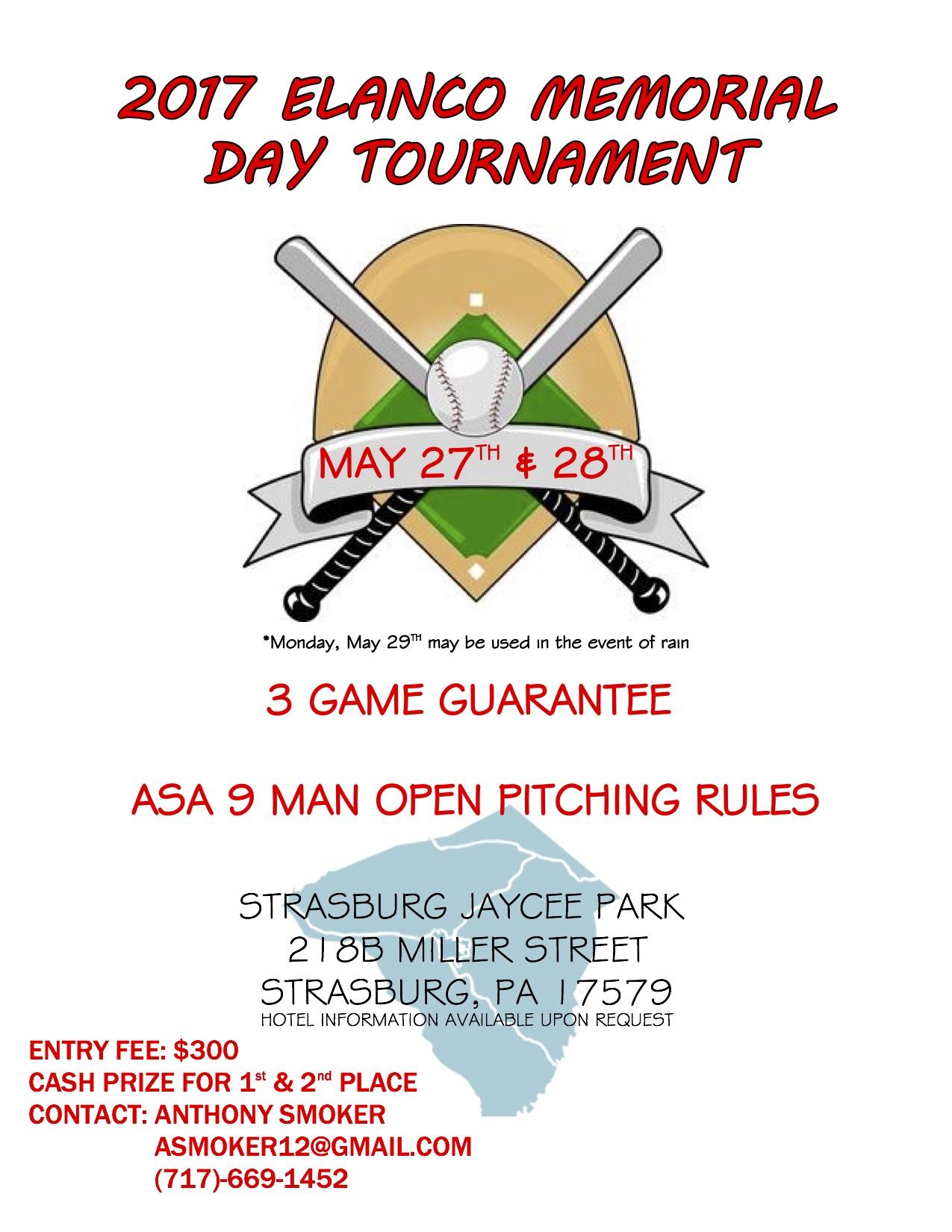 Tournaments - 10 Man Modified Softball